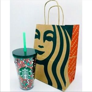 🆑 NWT Starbucks Grande holiday confetti cold cup